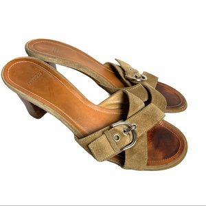 Coach Neena Suede Heel Sandals